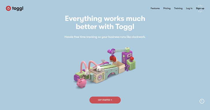 toggl free time tracking software webデザイナーのための